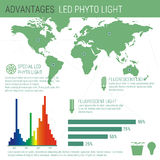 Infographic elements LED lamp Stock Photos