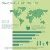 Infographic elements LED lamp Stock Image