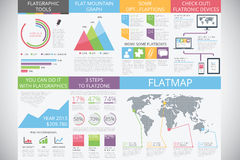 Infographic elements in modern fashion: flat style Stock Images