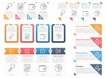 Infographic Elements with Numbers Royalty Free Stock Photo