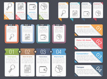 Infographic Elements with Numbers Stock Images