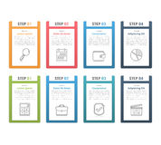 Infographic Elements with Numbers Royalty Free Stock Photography