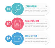 Infographic Elements with Numbers Stock Photos