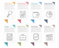 Infographic Elements with Numbers and Text Stock Image