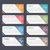 Infographic Elements with Numbers and Text Stock Images