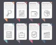 Infographic Elements with Numbers and Text Royalty Free Stock Photos