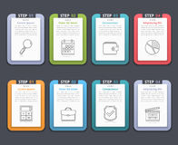 Infographic Elements with Numbers and Text Royalty Free Stock Image