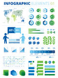 Infographic Elements 01. This is a pack of infographic elements great for presentations, reports, prints, brochures, websites, posters etc. The file is created Royalty Free Stock Image
