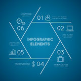 Infographic elements pentagon Stock Photography