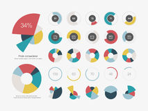 Infographic Elements Pie chart set icon Stock Image