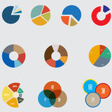 Infographic Elements, pie chart set icon, business elements and statistics stock photos