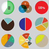 Infographic Elements, pie chart set icon, business elements and statistics. Set of charts and graphs for reports and statistics Stock Images