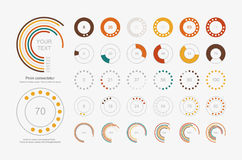 Infographic Elements.Pie chart set icon Stock Image