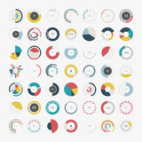 Infographic Elements.Pie chart set icon Royalty Free Stock Photo