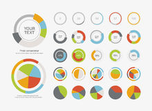 Infographic Elements Pie chart set icon Royalty Free Stock Photos