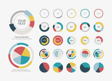 Infographic Elements Pie chart set icon Stock Photography