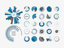 Infographic Elements Pie chart set icon Royalty Free Stock Images