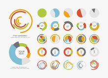 Infographic Elements Pie chart set icon Stock Photo