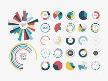 Infographic Elements.Pie chart set icon. Stock Images