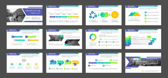 Powerpoint presentation template background. Use in presentation templates, flyer and leaflet, corporate report, marketing, advertising, annual report and Royalty Free Stock Photos