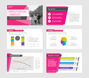 Powerpoint presentation template background. Use in presentation templates, flyer and leaflet, corporate report, marketing, advertising, annual report and Stock Photo