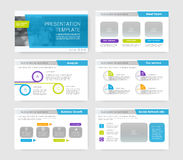 Powerpoint presentation template background. Stock Photo