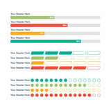 Infographic elements. Progress bar Royalty Free Stock Images