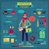 Infographic elements in retro style. Hipster Stock Images