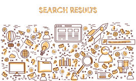 Infographic elements for Search Results. Creative Infographic elements set for Search Results concept Stock Photography