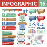 Infographic Elements 16. A set of conceptual elements to create your infographics Stock Images