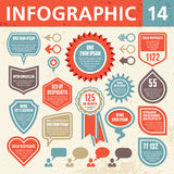 Infographic Elements 14. Set of elements for the development of creative infographics Royalty Free Stock Images