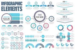 Infographic Elements. Set of infographic elements on white background Stock Image