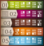 Infographic elements - set of paper tags,. Cloud technology icons, cloud cmputing, graphs, paper tags, arrows, world map and so on. Ideal for statistic data Royalty Free Stock Photo