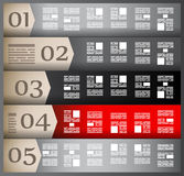 Infographic elements - set of paper tags, Stock Image