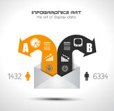 Infographic elements - set of paper tags, icons... Stock Images