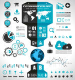 Infographic elements - set of paper tags, icons... Royalty Free Stock Photo