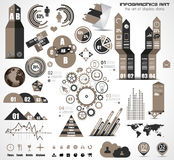 Infographic elements - set of paper tags, icons... Stock Photos