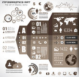 Infographic elements - set of paper tags, icons... Stock Image