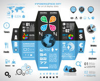 Infographic elements - set of paper tags, technology icons,... Stock Photo