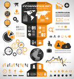 Infographic elements - set of paper tags, Stock Photography