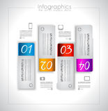 Infographic elements - set of paper tags, Royalty Free Stock Photos