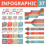 Infographic elements 37. Set of vector design elements in flat style for business presentation, booklet, web site etc. Royalty Free Stock Images