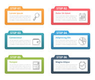 Infographic Elements - Six Steps Stock Photography