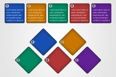 Infographic elements (Squares). Infographic made from colored squares shapes on light grey background Stock Image