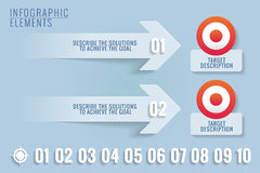 Infographic elements. Targets and solutions. Royalty Free Stock Image