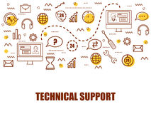 Infographic elements for Technical Support. Stock Photos