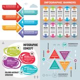 Infographic elements template business concept banners for presentation, brochure, website and other design project. Stock Photography