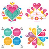 Infographic elements template business concept banners for presentation, brochure, website and other design project. Royalty Free Stock Photo