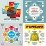 Infographic elements template business concept banners for presentation, brochure, website and other design project. Royalty Free Stock Photography