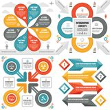 Infographic elements template business concept banners for presentation, brochure, website and other design project. Abstract infograph creative layout vector Royalty Free Stock Images